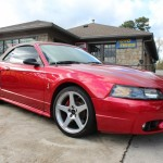 Red 2001 Ford Mustang Cobra